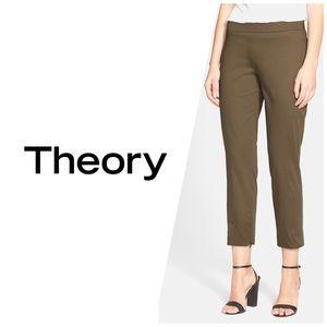 Theory Tonerma Sateen Stretch Pants